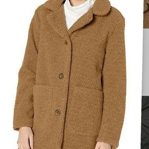 PINK PLATINUM Fuzzy Teddy Bear Coat - NWT